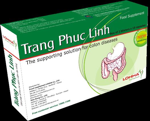 Tràng Phục Linh xanh- Thực phẩm chức năng chữa viêm đại tràng