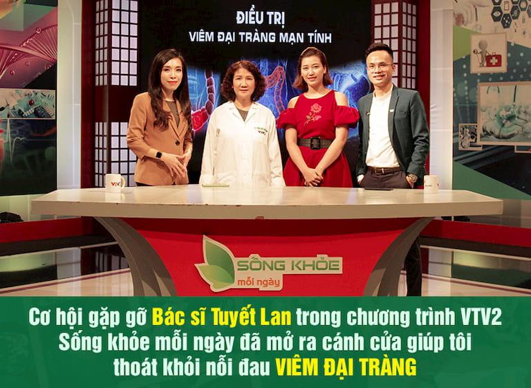 """Bác sĩ Tuyết Lan trong chương trình """"Sống khỏe mỗi ngày"""" được phát sóng trên kênh VTV2"""
