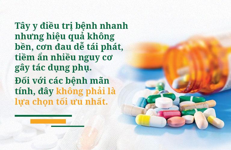 Sử dụng thuốc Tây y không đúng cách có thể dẫn đến nhiều tác dụng phụ nguy hiểm